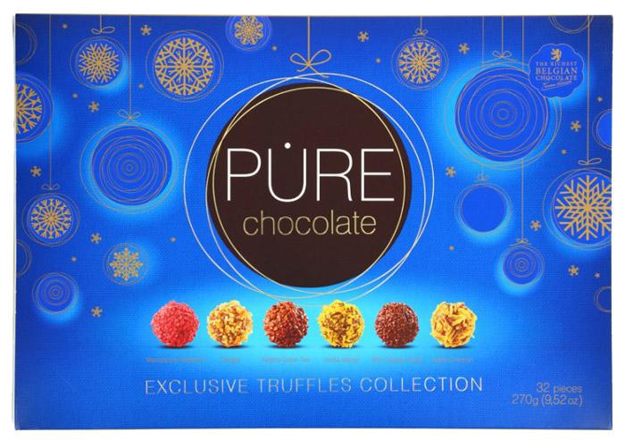 Pure Chocolate эксклюзивная коллекция трюфелей 32, 270 г loacker sandwich вафли с кремом из темного шоколада 25 г
