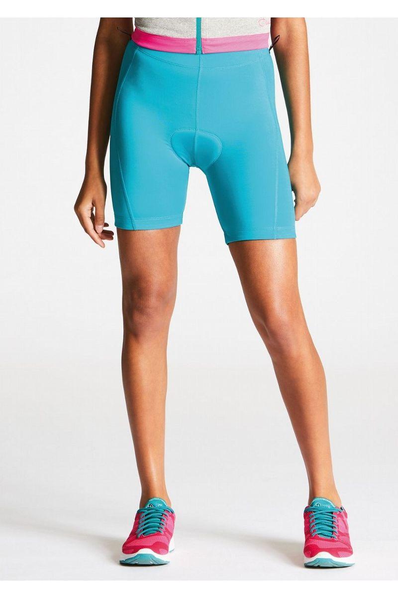 Велошорты женские Dare 2b Wms Turnaround Sh, цвет: синий. DWJ320-7VQ. Размер 12 (44/46)DWJ320-7VQКомфортные, эластичные велосипедные шорты. Эластичная ткань из полиэстера/эластана. Быстросохнущий материал. Плоские швы для дополнительного комфорта. Интерактивные петли на поясе. Двухмерная эластичная амортизирующая вставка переменной плотности. Вставка из материала Coolmax - хорошо отводит влагу. Обработана антибактериальным покрытием. Светоотражающие детали способствуют лучшей видимости. Совместимы с шортами артикул DMJ336.