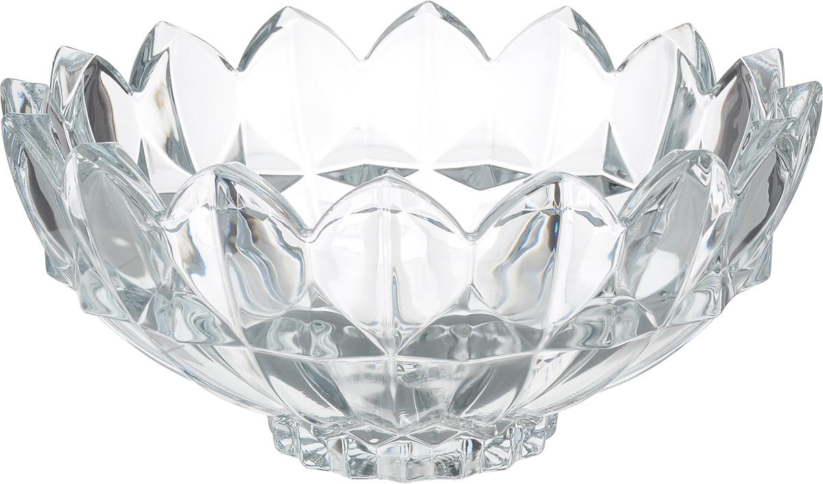 Салатник Isfahan Dalia, диаметр 26 см430711Салатник изготовлен из стекла, прекрасно подойдет для подачи различных блюд: закусок, салатов или фруктов.Такой салатник украсит ваш праздничный или обеденный стол, а оригинальный дизайн придется по вкусу и ценителям классики, и тем, кто предпочитает утонченность и изысканность.