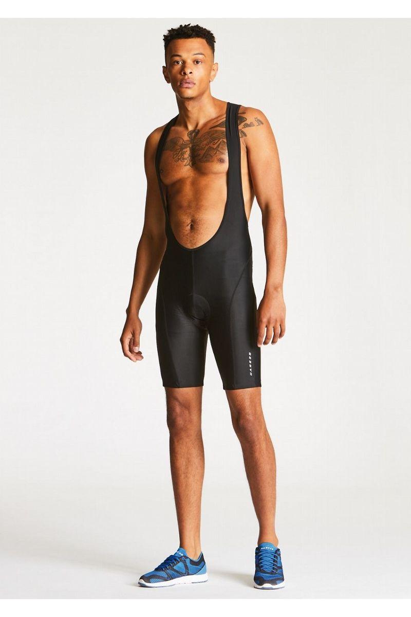 Велошорты мужские Dare 2b Innervate II Bib, цвет: черный. DMJ397-800. Размер XXL (58/60) тайтсы dare 2b dare 2b da017ewaxbe6