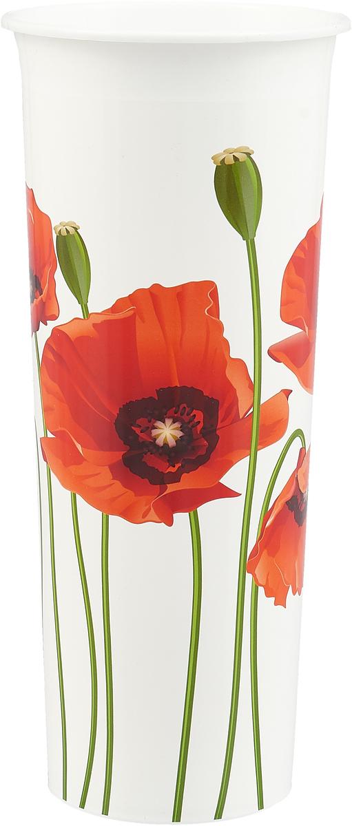 """Ваза InGreen """"Маки"""" выполнена из высококачественного   пластика и имеет изысканный внешний вид. Такая ваза станет  идеальным украшением интерьера и прекрасным подарком к  любому случаю.  Высота вазы: 26 см."""