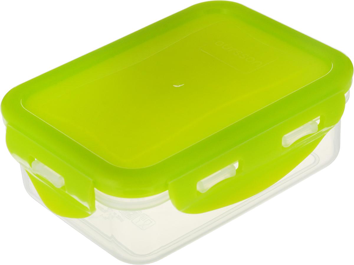 Контейнер Oursson GERMETIC Clip, 13 х 10 х 4,5 см контейнер для хранения продуктов oursson germetic clip cp0903s