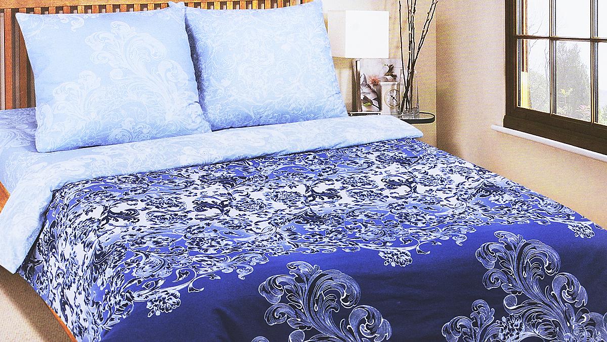 Комплект белья АртПостель Синий узор, 2-спальный, наволочки 70x70. 909 комплект белья артпостель сакура 2 спальный наволочки 70x70 909