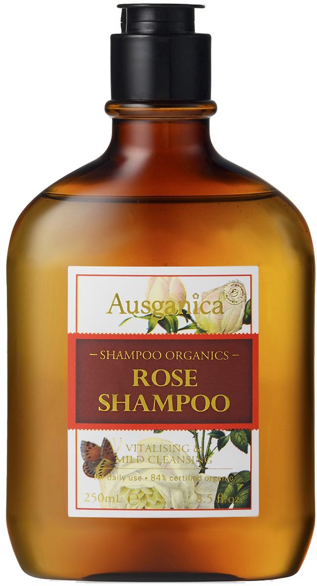 Ausganica Шампунь для частого использования Роза, 250 млHRR01Шампунь превосходно очищает волосы и кожу головы за счет синергетической комбинации экстрактов юкки Шидигера и кожуры орехов мыльного дерева. В процессе мытья за счет натуральных сапонинов образуется стабильная нежная пена, обладающая антибактериальными, противогрибковыми, противовоспалительными и антиоксидантными свойствами. Входящие в состав средства экстракты плодов карликовой пальмы и хвоща полевого поддерживают деление клеток волосяных фолликулов, укрепляют корневую систему волос, препятствуют их истончению и выпадению. Гидролизат рисовых протеинов и экстракт клюквы насыщают клетки кожи важнейшими микроэлементами и витаминами, «запечатывают» поврежденные участки волос, интенсивно увлажняют, облегчают расчесывание и увеличивают объем. Масла листьев розмарина и герани усиливают микроциркуляцию в коже головы, улучшают питание волосяных луковиц, уменьшают зуд, оказывают ранозаживляющее действие. Провитамин B5 восстанавливает поврежденную структуру волоса, разглаживает его поверхность, придает блеск, защищает стержень волоса от воздействия неблагоприятных факторов окружающей среды. Экстракт столистной розы снимает раздражение, тонизирует и освежает кожу головы, а экстракт листьев шалфея помогает сохранить естественный цвет волос.При регулярном использовании шампунь «Роза» наполнит волосы новой жизненной силой, обеспечит им здоровый блеск и роскошную гладкость. Его приятный тонкий аромат и нежная консистенция превратят процесс мытья головы в истинное удовольствие.