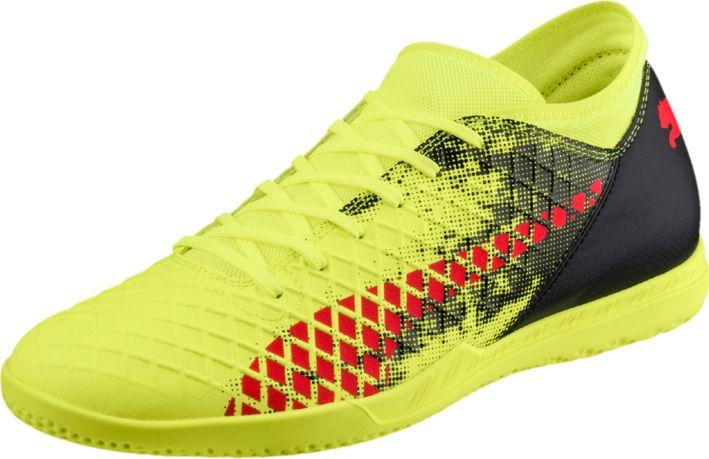 Бутсы мужские Puma Future 18.4 IT, цвет: желтый. 10434801. Размер 9,5 (43)10434801Футбольные бутсы Puma Future 18.4 IT повторяют стиль и силуэт флагманской модели Future 18.1 и при этом отличаются весьма привлекательной ценой. Мягкий и прочный синтетический материал верха делает эту обувь легкой, удобной и долговечной.