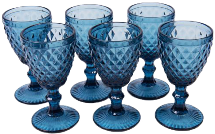 Набор бокалов Magic Home Статус, цвет: синий, 350 мл, 6 шт набор бокалов для бренди коралл 40600 q8105 400 анжела