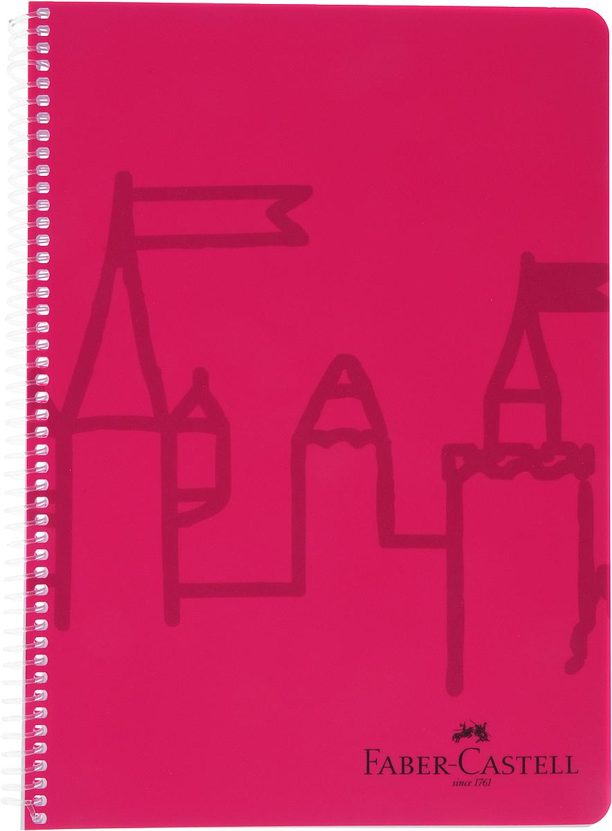 Faber-Castell Блокнот Castle 80 листов в клетку цвет розовый блокнот не трогай мой блокнот а5 144 стр