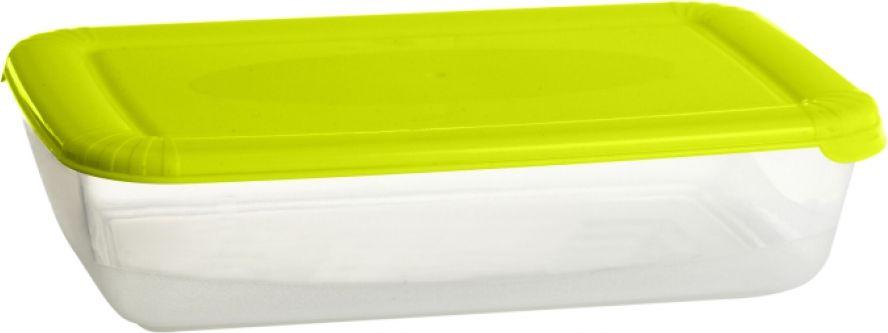 Контейнер пищевой Plast Team Polar, цвет: лайм, 0,9 л, 20,6 х 13,5 х 5 см контейнеры из полимеров migura контейнер 0 3 л
