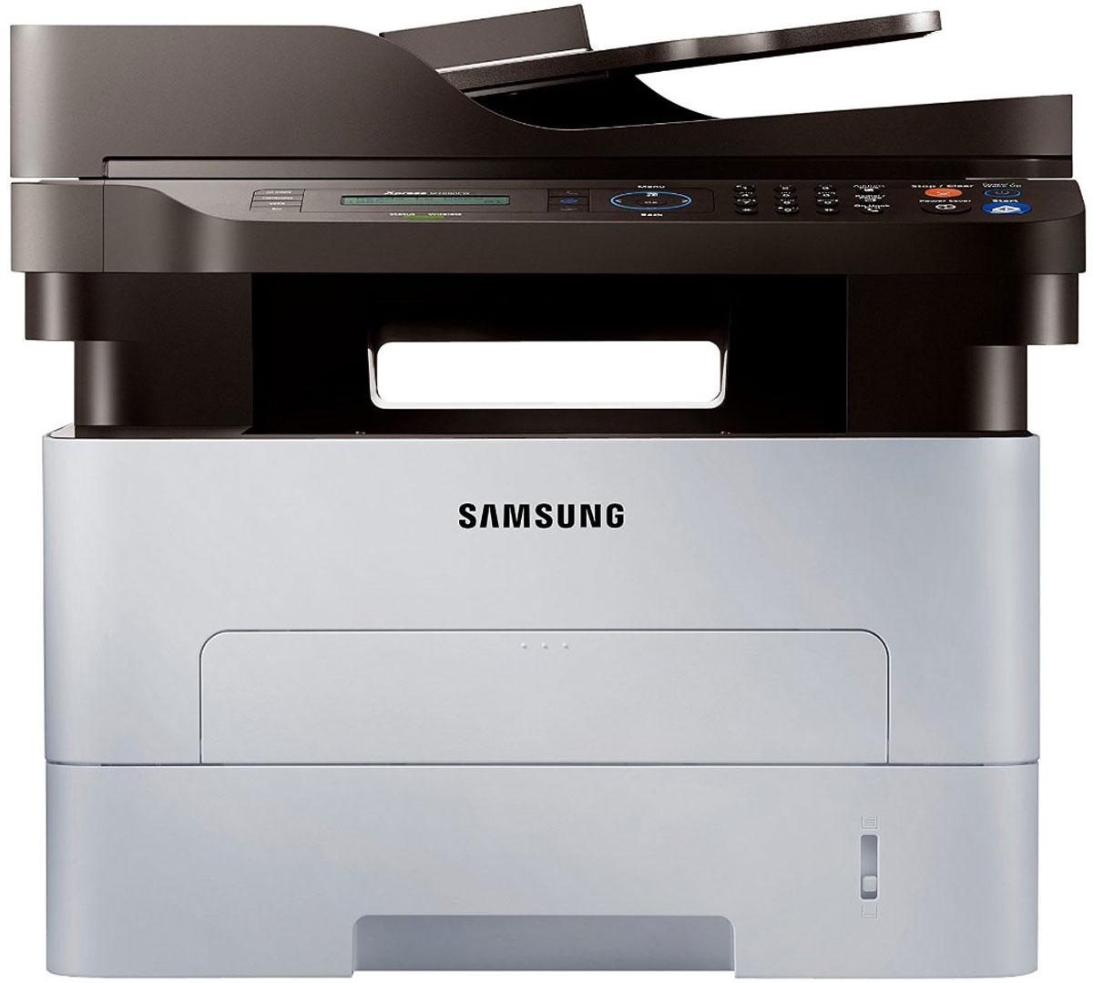 Samsung Xpress SL-M2880FW МФУ1000453496МФУ Samsung Xpress SL-M2880FW - это отличные результаты и экономия средств на эксплуатацию.С помощью технологий NFC, Wi-Fi Direct, Google Cloud Print и широкой совместимостью, теперь распечататьдокумент можно в одно касание. Просто коснитесь вашим мобильным устройством МФУ Samsung Xpress SL- M2880FW и отпечатайте любой контент. Сканируйте изображения и отправляйте их на ваше мобильноеустройство. Делитесь файлами с вашего мобильного устройства моментально через факс-режим.Простая процедура регистрации на Google CloudОблачная печать Google Cloud Print позволяет подключиться к принтеру с любого места в мире, где естьИнтернет. Просто коснитесь смартфоном NFC метки на принтере и он автоматически подключится к облачномухранилищу — никакого логина и пароля.Не нужно обращаться в Сервис для устранения неисправностей в вашем принтереРаздражают сообщения об ошибках на экране принтера? Если у вас есть смартфон с поддержкой NFC, то нетнеобходимости обращаться к кому-либо за помощью. Просто коснитесь смартфоном NFC метки на принтере и онпроведет вас по процедуре устранения неисправностей.Быстрая печать, ждать не нужноПроизводительные МФУ серии Samsung Xpress SL-M2880FW отвечают вашим профессиональным требованиям иобеспечивают превосходное качество печати. Экономьте время при печати сложных документов со скоростью28 страниц в минуту благодаря мощному 600 MГц процессору и оперативной памяти 128 MБ. Процессор Cortex-A5на 25.6% быстрее процессоров, используемых в прежних моделях принтеров, благодаря чему данная серияотличается одной из самых высоких скоростей печати в своем классе. Теперь вы можете быстрее делать вашуработу, быть более гибкими и продуктивными.Эффектные отпечатки высокого качестваТеперь профессиональное качество печати доступно для каждого пользователя. Ваш принтер Samsung XpressSL-M2880FW обеспечивает яркие и четкие отпечатки. Благодаря поддержке высокого разрешения 4800 x 600точек на дюйм и технологии Rendering Engine for Clean