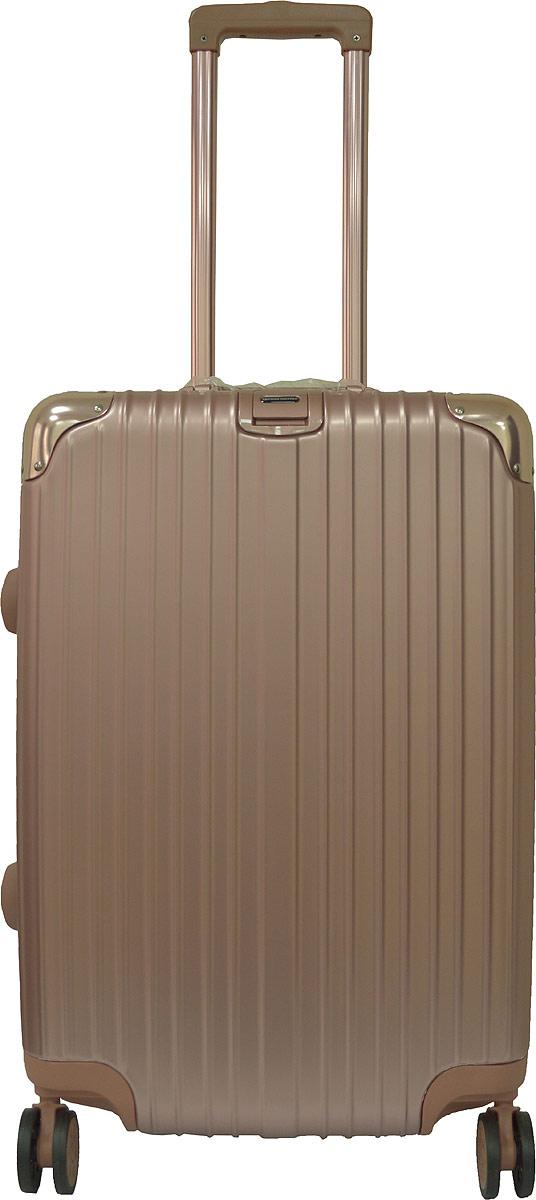Чемодан Удачная покупка PC151, на колесах, цвет: золотой, 42 л. УТ-00000092УТ-00000092Вес чемодана 3,9 кг (на бирке указан вес с упаковкой), в комплект входит чехол для безопасной транспортировки, чемодан по размерам подходит под ручную кладь.Чемодан оснащен кодовым замком с технологией TSA для таможенного досмотра (ключи для таких замков находятся у работников таможни, в комплекте к чемодану не идут, для использования не требуются).Чемодан из прочного, легкого и долговечного поликарбоната ABS+PC, изготовлен по трехслойной технологии.Ударопрочный и упругий каркас окантован усиленной алюминиевой рамкой.Влагонепроницаемый современный чемодан обладает впечатляющим дизайном.Специальная технология матовой окраски гарантирует защиту от царапин.Долговечные бесшумные колеса из высокопрочной резины с поворотным механизмом на 360° обеспечат легкость перемещения багажа.Надежная выдвижная ручка из усиленного алюминиевого сплава выдерживает нагрузку до 50 кг.Технологичный сплав ручки не ржавеет и надолго сохраняет безупречный внешний вид.Регулируемая высота ручки удобна для людей различного роста.Практичная внутренняя система хранения с двумя сетчатыми экранами обеспечивает быстрый доступ к необходимым вещам.