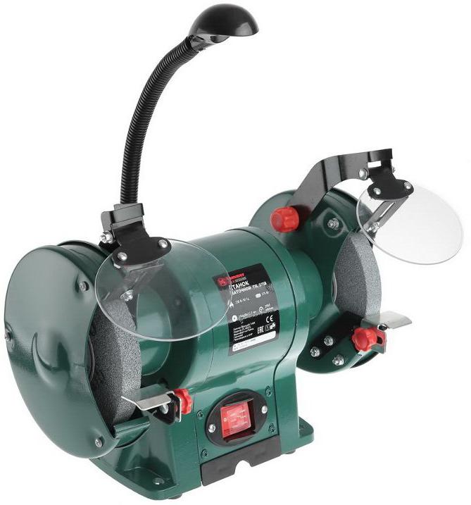 Точило Hammer Flex TSL375B, 375 Вт186920Точило с подсветкой Hammer Flex TSL375B оснащено двумя абразивными дисками. Диаметр дисков 150 мм, ширина 20 мм, диаметр посадочного отверстия 12.7 мм. Рабочая поверхность защищена с помощью регулируемых упоров и прозрачных искрогасителей. На верхней части корпуса расположена светодиодная лампа на гибкой ножке - для освещения рабочего процесса. Электродвигатель точила обладает мощностью 375 Вт и работает от стандартной электросети 220 в.Особенности модели:Крепления к верстаку или рабочему столу.Два посадочных места для абразивных кругов универсального размера.LED-лампа на гибкой ножке.Влаго- и пылестойкие переключатели.Угол наклона упоров регулируется.Рабочий вес устройства – 9,2 кг.