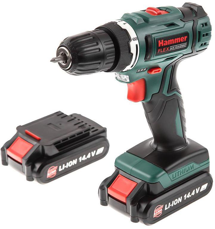 Дрель аккумуляторная Hammer Flex ACD145Li, 14,4 В электроинструмент hammer flex acd145li