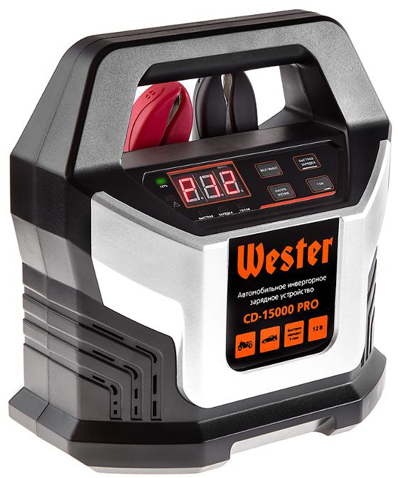 Зарядное устройство Wester CD-15000 PRO, для АКБ 12В, 15А, АКБ до 220Ач