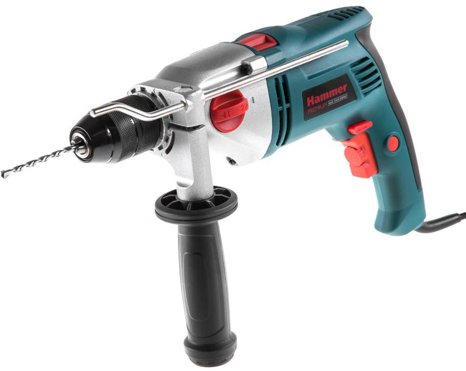 Дрель ударная Hammer Premium UDD1100B, 1100 Вт дрель ударная hammer udd710с premium