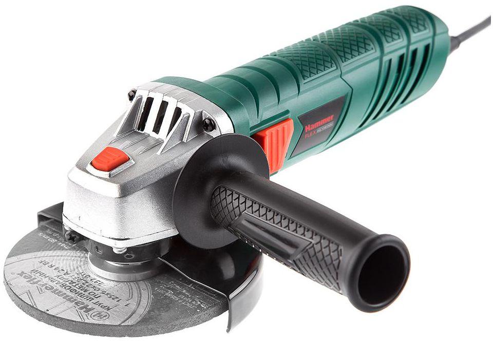 Шлифмашина угловая Hammer Flex USM710D, 710 Вт501520Шлифмашина угловая Hammer Flex USM710D 710Вт 12000об/мин 125мм.Углошлифовальная машина (болгарка) USM 710D отличается компактным, зауженным корпусом с рифлением. Особенностью УШМ также является широкая кнопка пуска с плавным ходом, что существенно облегчает запуск и остановку вращения диска. Кожух стандарта 125 мм позволит использовать самый распространенный тип абразивной оснастки. Двухпозиционная дополнительная рукоятка дает возможность работать как с правой, так и с левой руки вплотную к плоскости, а блокировка шпинделя облегчает замену оснастки.
