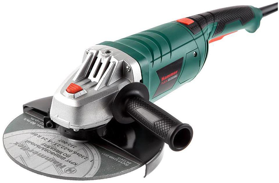 Шлифмашина угловая Hammer Flex USM2400D, 2400 Вт ушм hammer flex usm600a