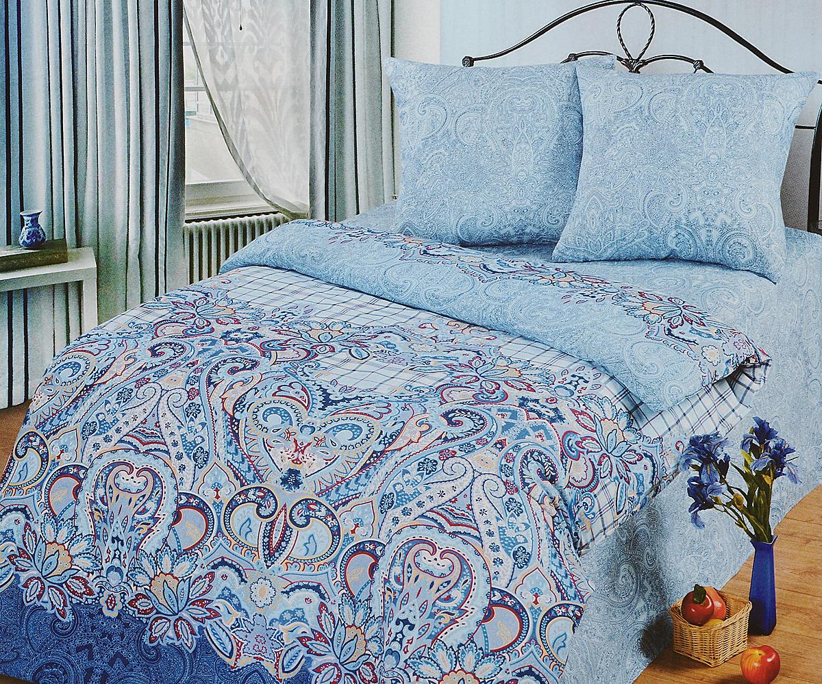 Комплект белья АртПостель Индиго, 1,5-спальный, наволочки 70x70. 500 комплект белья артпостель жаклин 1 5 спальный наволочки 70x70