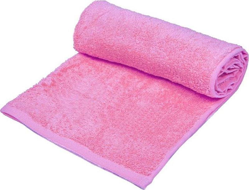 Полотенце банное Павлина, цвет: розовый, 90 х 50 см4660006047605Полотенце махровое банное, 100 % хлопок.