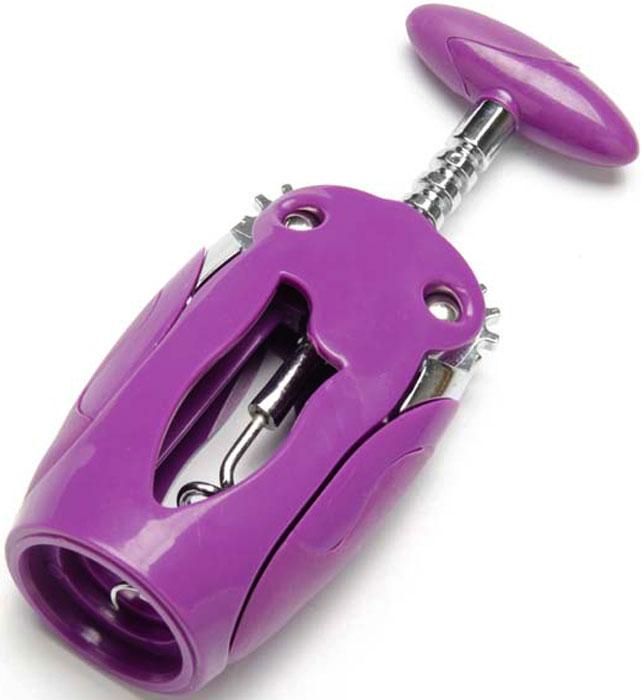 Штопор Mayer & Boch, цвет: фиолетовый. 23291-123291-1Штопор MAYER & BOSH, выполненный из цинкового сплава и титана, оснащен рычажным механизмом. Благодаря рычагу вам не нужно прилагать много усилий, чтобы вытащить пробку из бутылки. Удобные ручки из пластика не позволят выскользнуть изделию из вашей руки. Эстетичный и функциональный штопор займет достойное место среди аксессуаров на вашей кухне и позволит вам открыть любую бутылку без особого труда. Можно мыть в посудомоечной машине.
