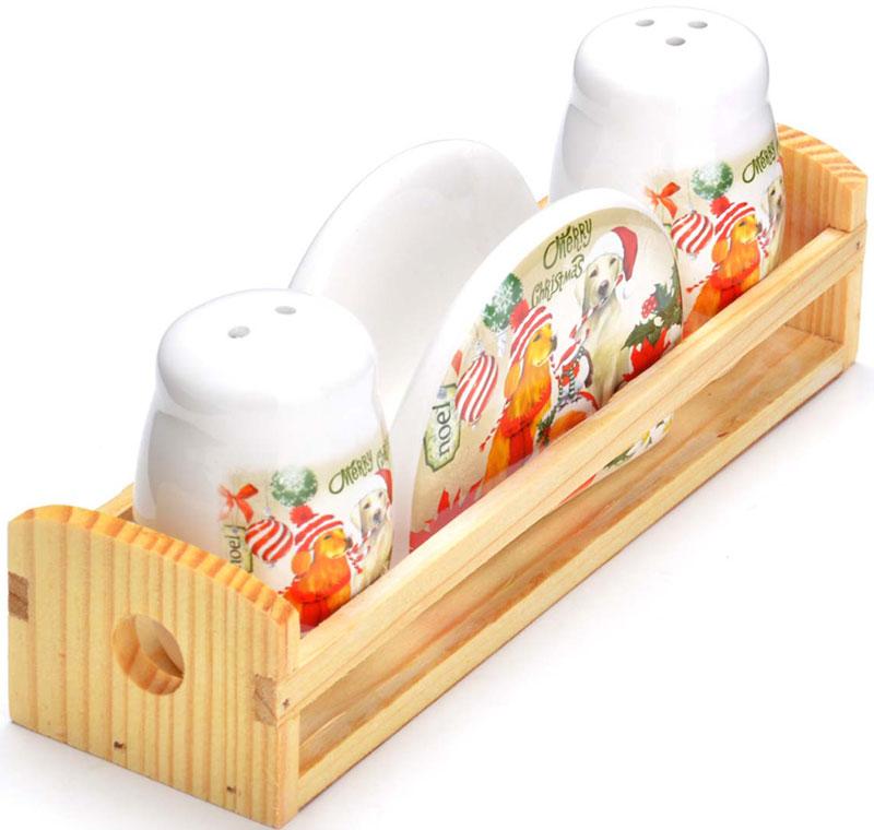Набор для специй LORAINE состоит из солонки, перечницы, салфетницы и деревянной подставки. Предметы набора выполнены из прочной доломитовой БИО и ЭКО керамики. Отверстия, в которые засыпаются специи, закрыты силиконовыми пробками. Благодаря своим небольшим размерам набор не займет много места на Вашей кухне. Дизайн, эстетичность и функциональность набора позволят ему стать достойным дополнением к кухонному инвентарю и украсить сервировку Вашего стола.