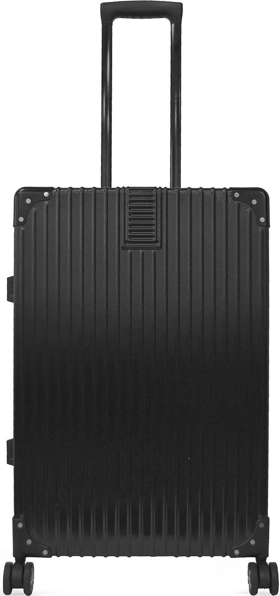 Чемодан Удачная покупка DL068, на колесах, цвет: черный, 70 л. УТ-00000105УТ-00000105Вес чемодана 4,8 кг (на бирке указан вес с упаковкой), в комплект входит чехол для безопасной транспортировки, чемодан по размерам подходит под ручную кладь.Чемодан оснащен кодовым замком с технологией TSA для таможенного досмотра (ключи для таких замков находятся у работников таможни, в комплекте к чемодану не идут, для использования не требуются).Чемодан из прочного, легкого и долговечного поликарбоната ABS PC, изготовлен по трехслойной технологии.Ударопрочный и упругий каркас окантован усиленной алюминиевой рамкой.Специальная технология матовой окраски гарантирует защиту от царапин.Долговечные бесшумные колеса из высокопрочной резины с поворотным механизмом на 360 обеспечат легкость перемещения багажа.Надежная выдвижная ручка из усиленного алюминиевого сплава выдерживает нагрузку до 50 кг.