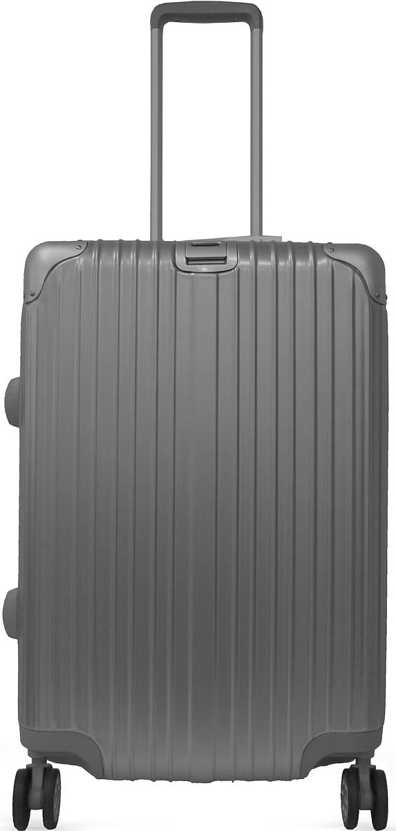 Чемодан Удачная покупка DL072, на колесах, цвет: серебристый, 67 л. УТ-00000112УТ-00000112Вес чемодана 3,8 кг, на бирке указан вес с упаковкой, в комплект входит чехол для безопасной транспортировки, чемодан по размерам подходит под ручную кладь.Для открытия кодового замка потянуть задвижку наверх.Чемодан оснащен кодовым замком с технологией TSA для таможенного досмотра, ключи для таких замков находятся у работников таможни, в комплекте к чемодану не идут, для использования не требуются.Чемодан из прочного, легкого и долговечного поликарбоната ABS PC, изготовлен по трехслойной технологии.Ударопрочный и упругий каркас окантован усиленной алюминиевой рамкой.Специальная технология матовой окраски гарантирует защиту от царапин.Долговечные бесшумные колеса из высокопрочной резины с поворотным механизмом на 360 обеспечат легкость перемещения багажа.Надежная выдвижная ручка из усиленного алюминиевого сплава выдерживает нагрузку до 50 кг.
