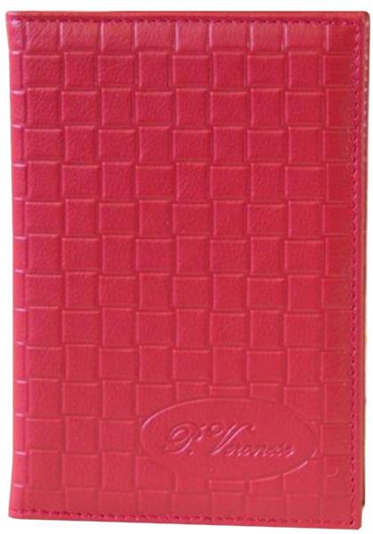 Обложка для паспорта женская Paolo Veronese, цвет: красный. O043-A00-057Натуральная кожаОбложка для паспорта из натуральной кожи с тиснением. Внутри карманы из кожи и отделения для кредитных/дисконтных карт. Размеры (XxYxZ): 97х138х4