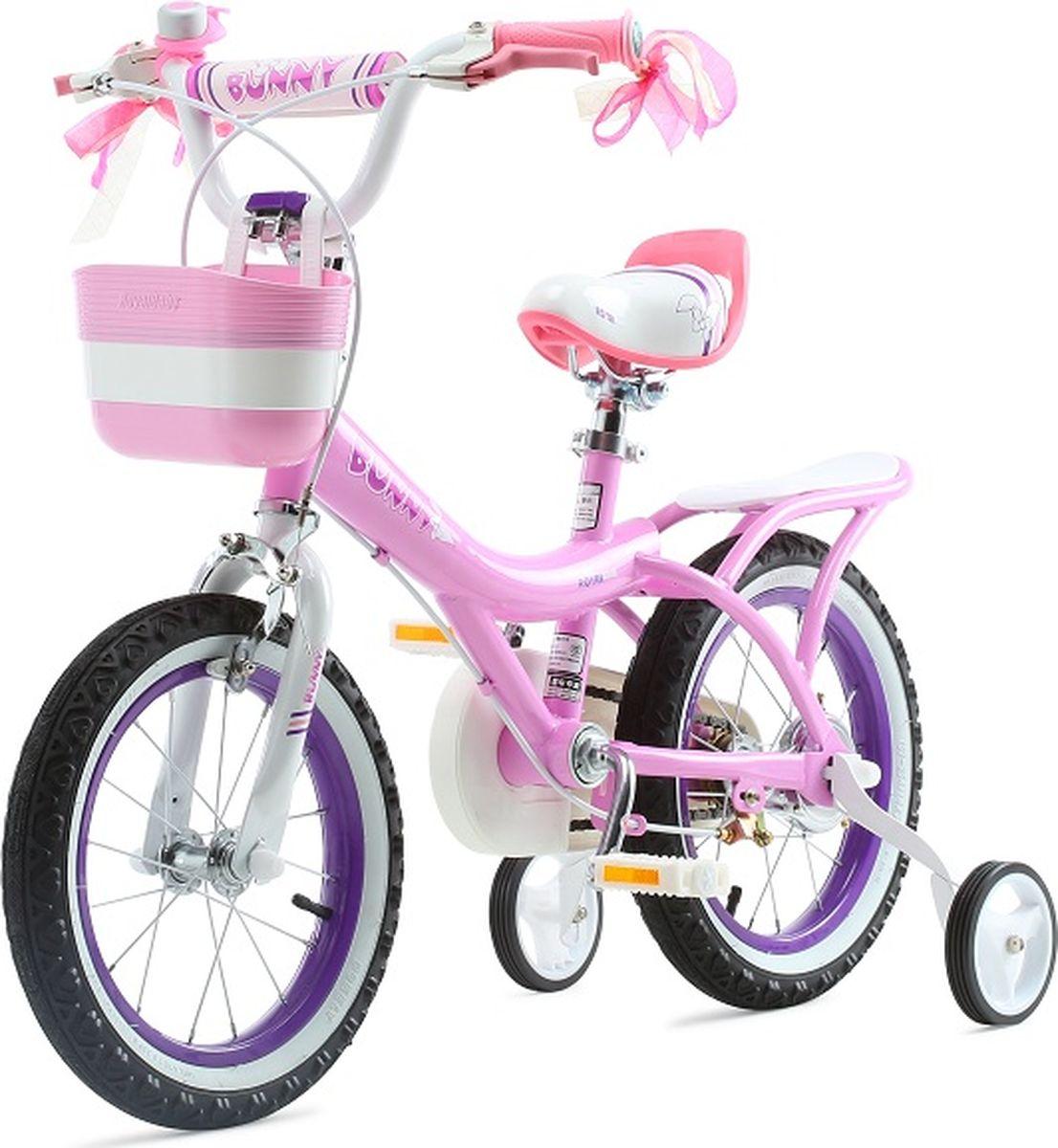 Детский велосипед с приставными колесами. Стальная рама, надувные колеса, комплект задних приставных колес, ручной тормоз, звонок, регулируемое по высоте седло, регулируемый по высоте руль, корзинка для вещей или игрушек. Насос, набор ключей, крылья в комплекте. Подходит для роста 105-120 см. Профиль обода - одностенный. Вид ниппеля: автомобильный (AV, Shrader, Шредер,). Тип тормозной системы: ручной ободной тормоз. Жесткая вилка