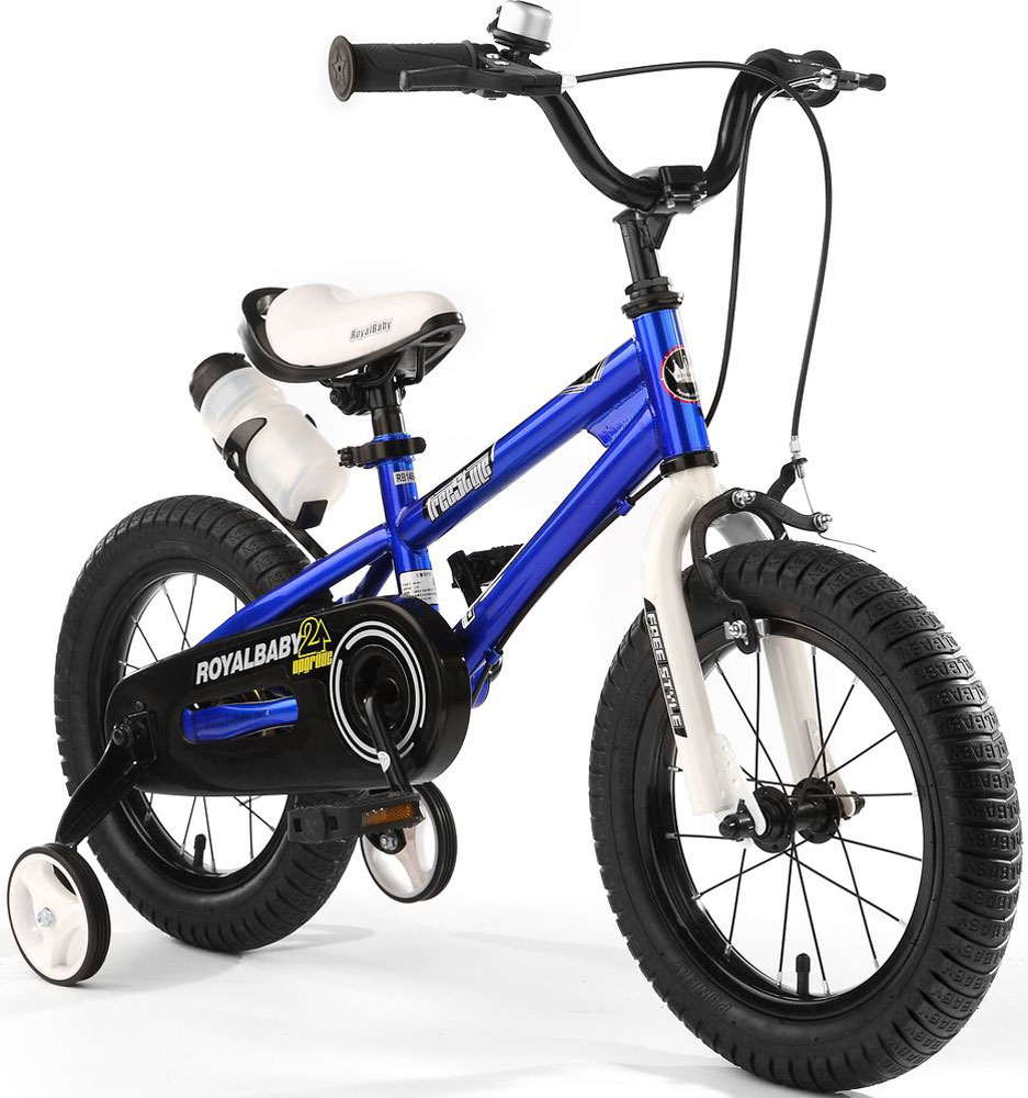 Велосипед детский Royal Baby Freestyle 14, цвет: синий велосипед royal baby buttons alloy 14 2018