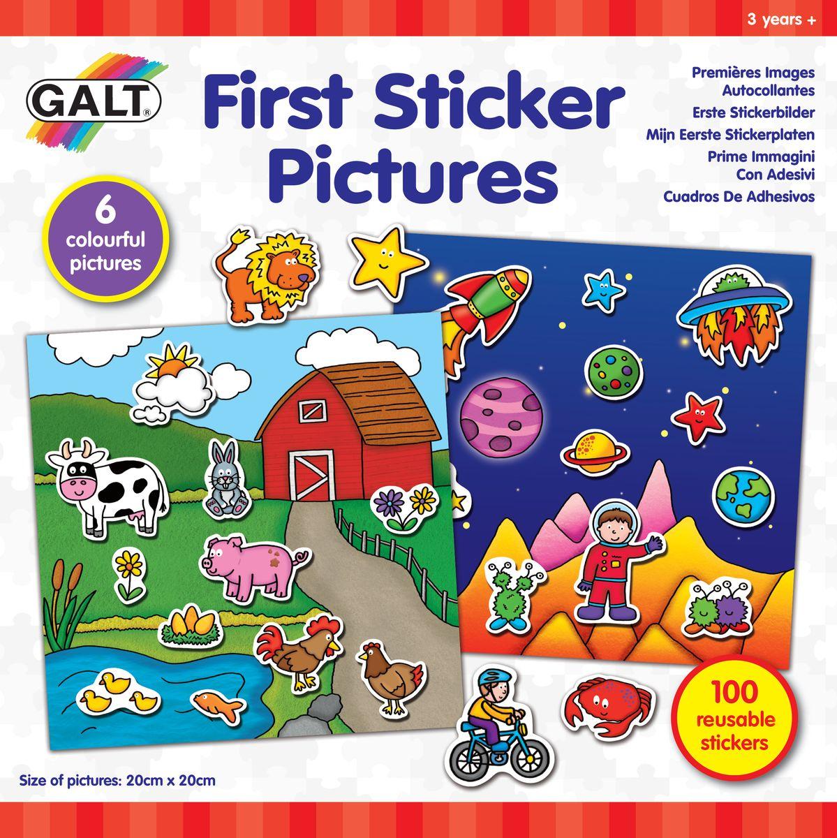 Фото - Galt Многоразовые стикеры Первые стикеры стикеры для стен unbranded diy jm8361