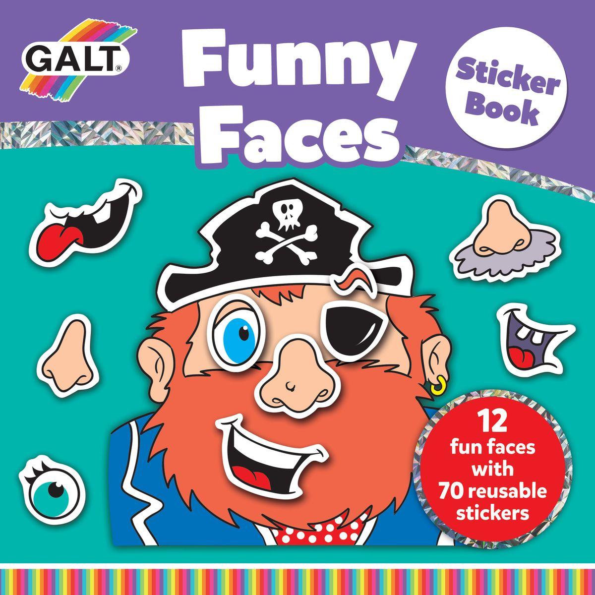 """Набор """"Смешное лицо"""", 12 различных лиц и 2 листка с многоразовыми стикерами (глаза, рот, нос , уши). Развивает фантазию, воображение и творческие способности ребенка."""