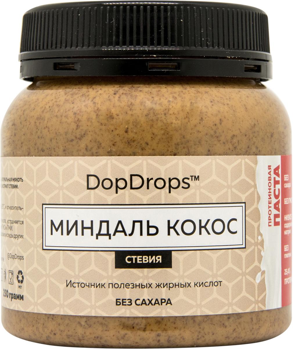 """Паста протеиновая DopDrops """"Миндаль. Кокос"""", стевия, 250 г"""
