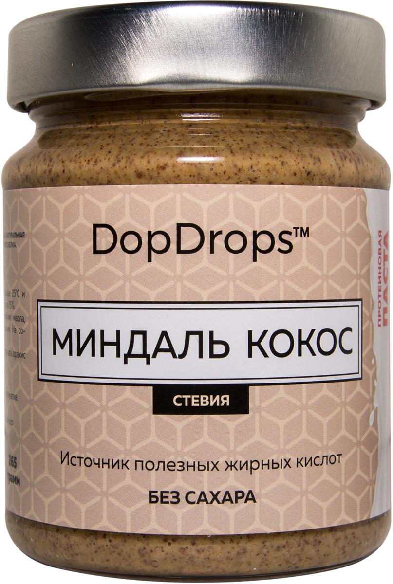 """Паста протеиновая DopDrops """"Миндаль. Кокос"""", стевия, 265 г"""