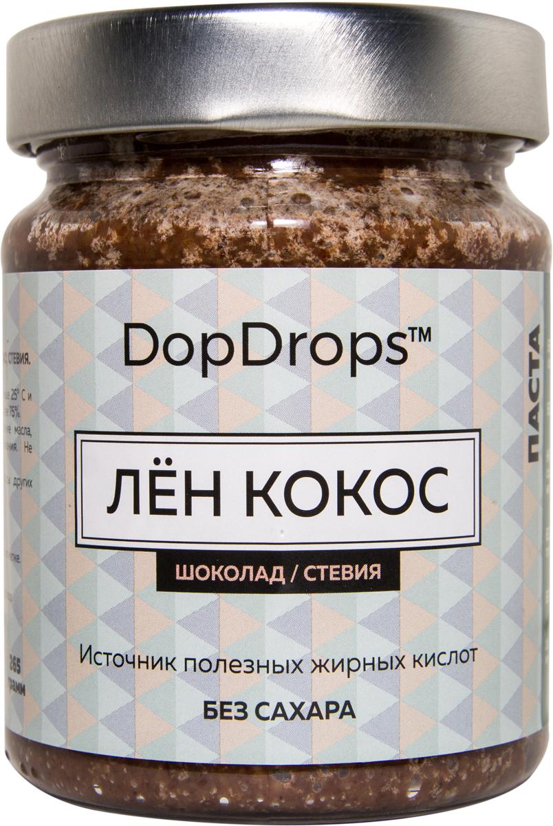"""Паста DopDrops """"Лен. Кокос"""", шоколад, стевия, 265 г"""