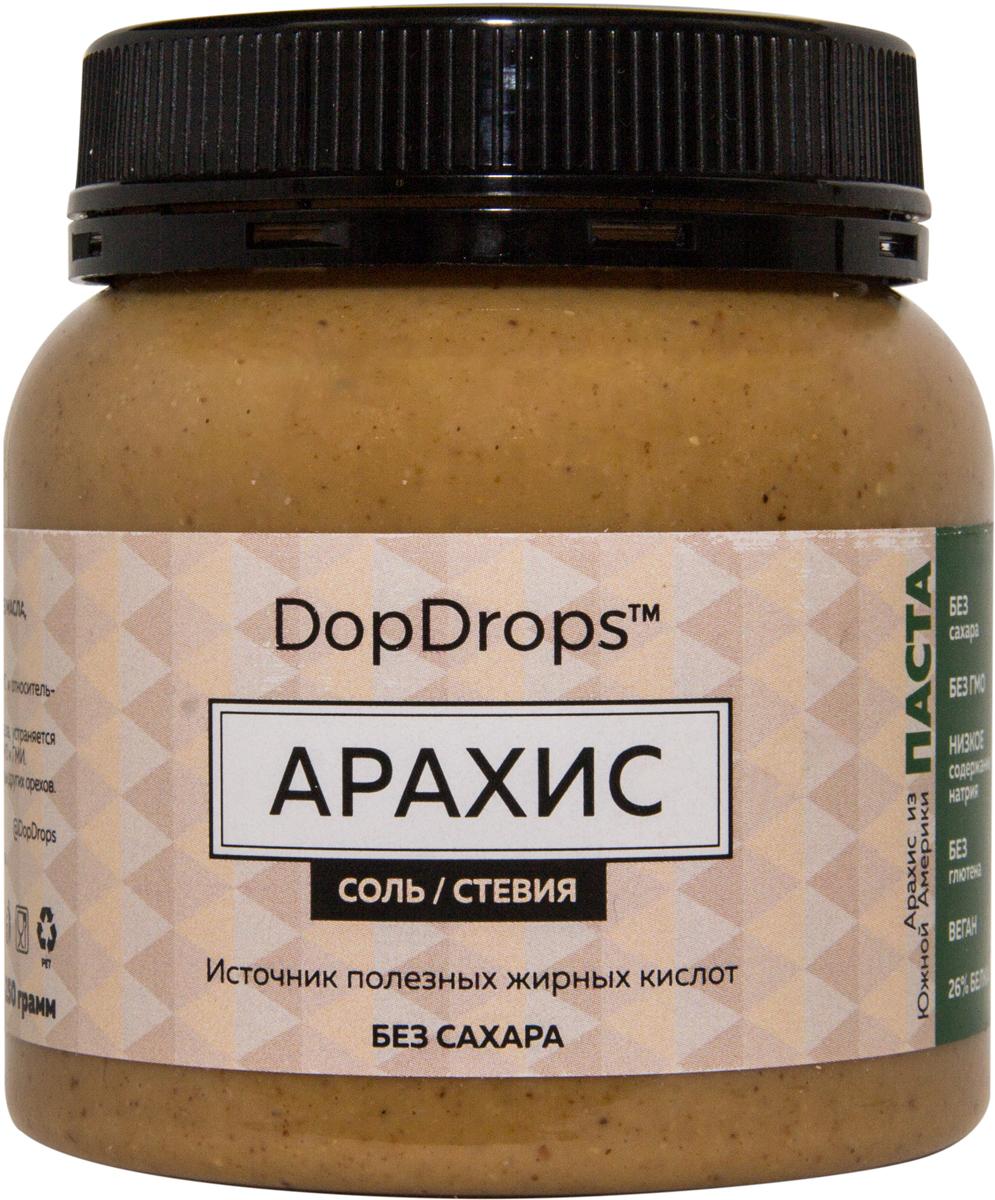 """Паста DopDrops """"Арахис"""", морская соль, стевия, 250 г"""