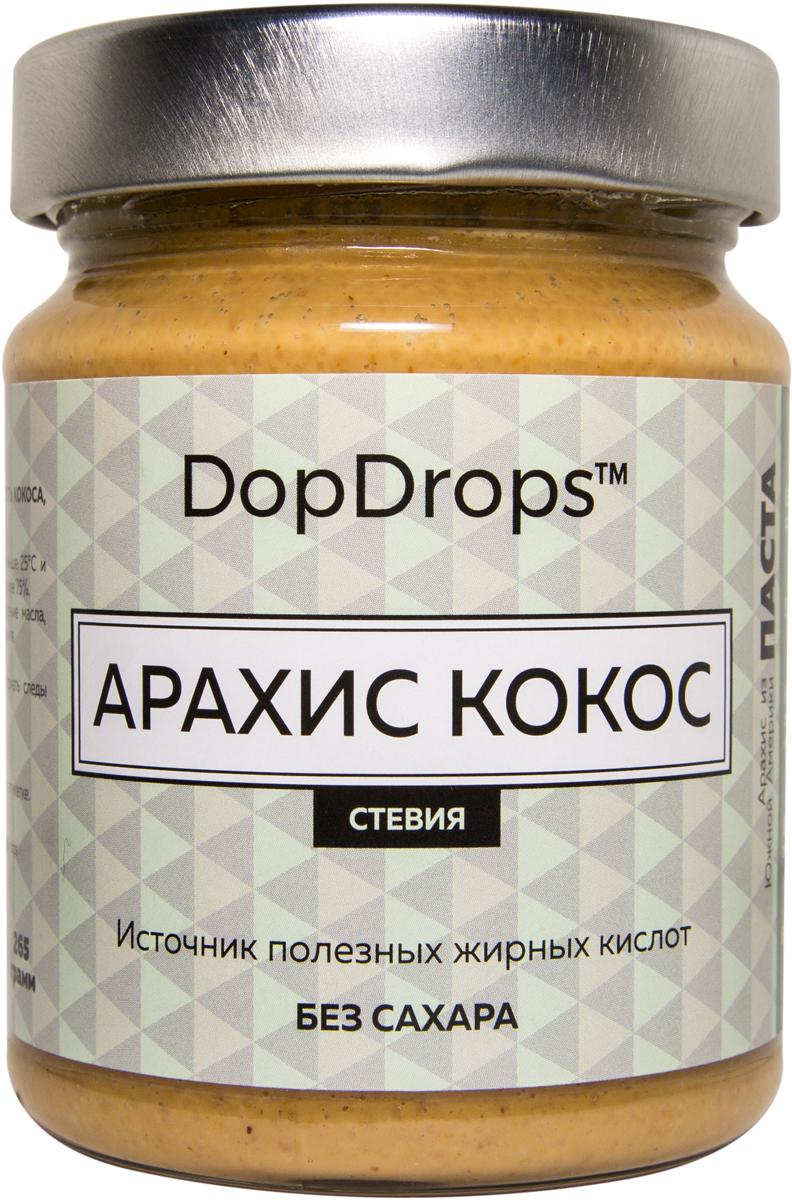 """Паста DopDrops """"Арахис. Кокос"""", стевия, 265 г"""