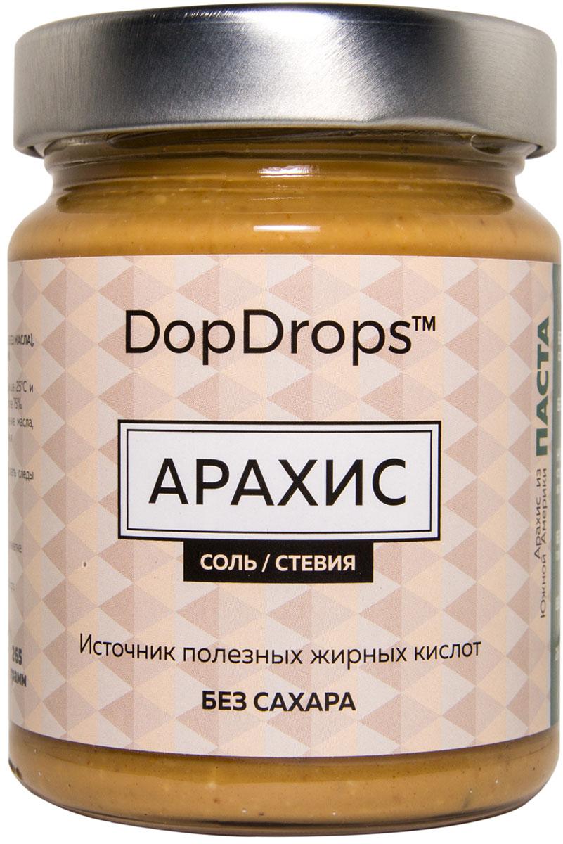 """Паста DopDrops """"Арахис"""", морская соль, стевия, 265 г"""