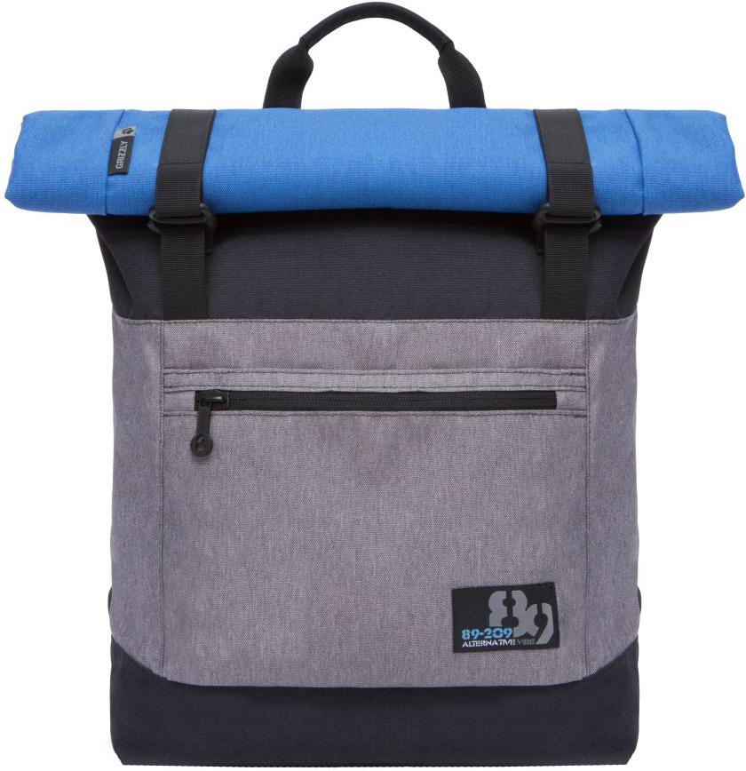 Рюкзак городской Grizzly, цвет: черный, серый. RU-814-1/2RU-814-1/2Рюкзак молодежный, вставка-трансформер для увеличения объема рюкзака, одно отделение, клапан на застежках, карман на передней стенке, объемный карман на молнии на передней стенке, внутренний карман на молнии, укрепленная спинка, карман на молнии на задней стенке, дополнительная ручка-петля, мягкие лямки, быстрый доступ к основному отделению сбоку.