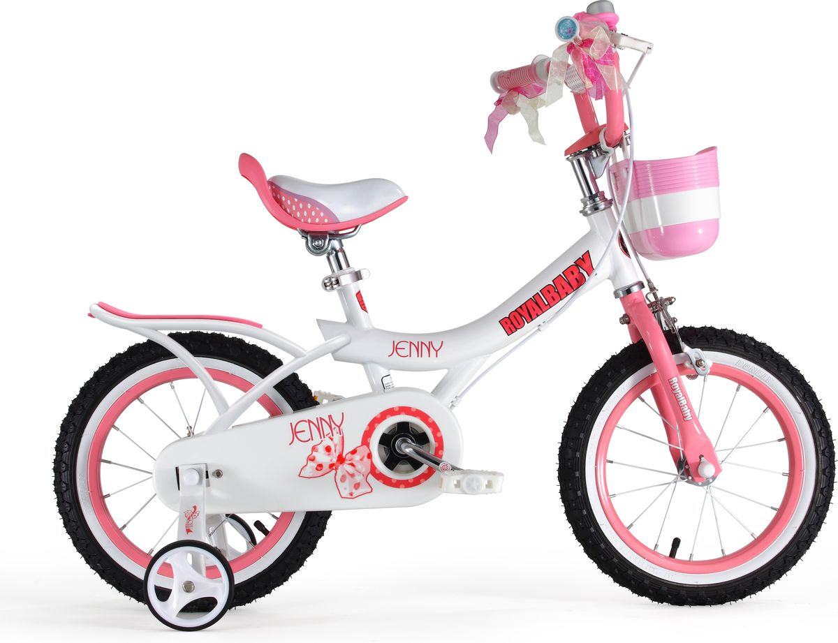 Детский велосипед с приставными колесами. Стальная рама, надувные колеса, комплект задних приставных колес, ручной тормоз, звонок, регулируемое по высоте седло, регулируемый по высоте руль, корзинка для вещей или игрушек. Насос, комплект ключей. Подходит для роста 115-140 см. Профиль обода - одностенный. Вид ниппеля: автомобильный (AV, Shrader, Шредер,). Тип тормозной системы: ручной ободной тормоз. Жесткая вилка