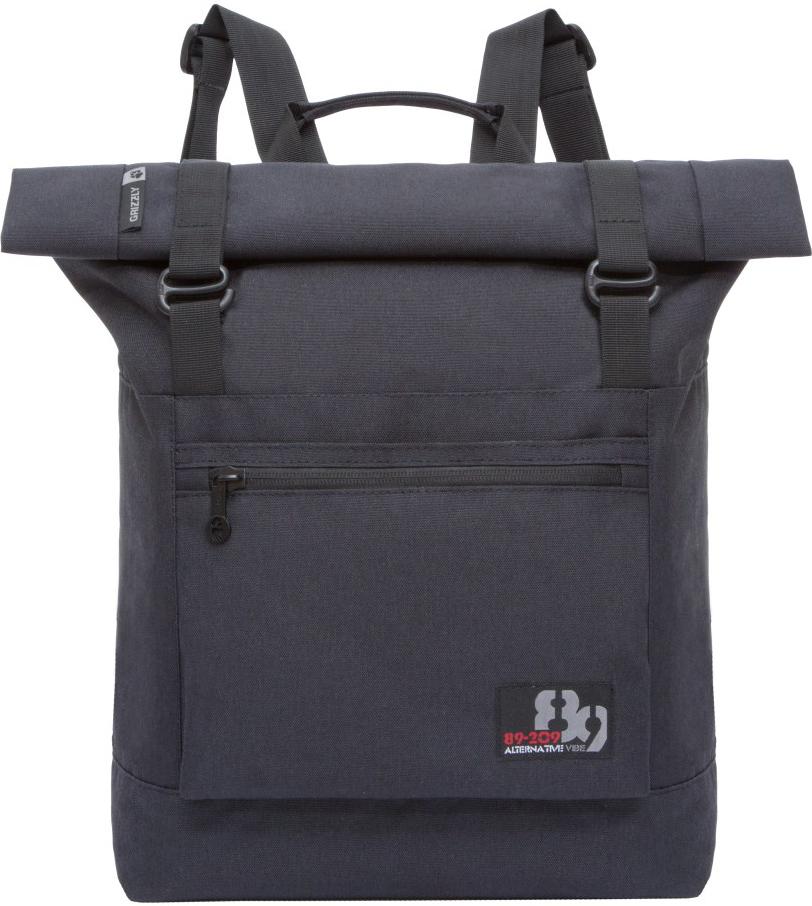 Рюкзак городской Grizzly, цвет: черный. RU-814-1/4RU-814-1/4Рюкзак молодежный, вставка-трансформер для увеличения объема рюкзака, одно отделение, клапан на застежках, карман на передней стенке, объемный карман на молнии на передней стенке, внутренний карман на молнии, укрепленная спинка, карман на молнии на задней стенке, дополнительная ручка-петля, мягкие лямки, быстрый доступ к основному отделению сбоку.