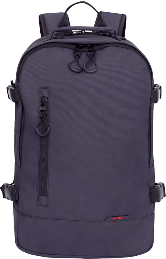 Рюкзак городской Grizzly, цвет: черный. RU-813-1/4RU-813-1/4Рюкзак молодежный, два отделения, карман на молнии на передней стенке, боковые стяжки-фиксаторы, внутренний карман для электронных устройств, внутренний карман на молнии, внутренний укрепленный карман для ноутбука, укрепленная спинка, дополнительная ручка-петля, укрепленные лямки.