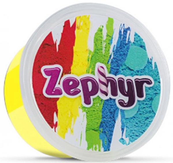 Zephyr Кинетический пластилин цвет желтый -  Пластилин