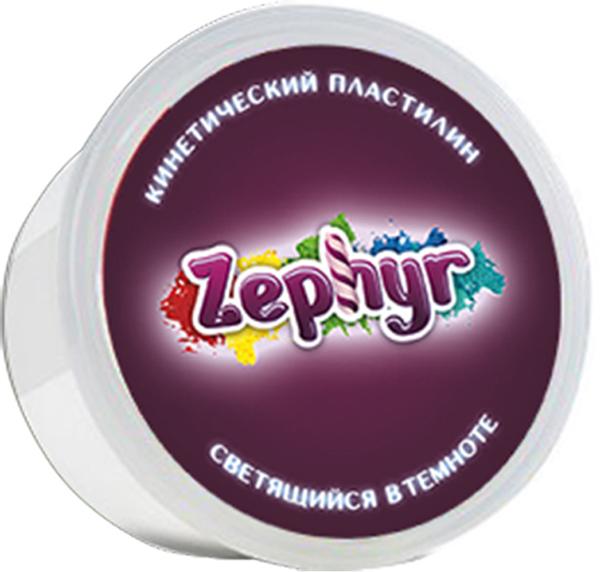 Zephyr Кинетический пластилин светящийся в темноте -  Пластилин