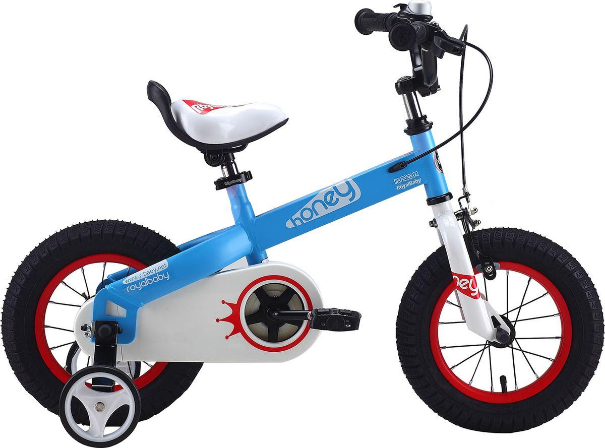 Велосипед детский Royal Baby Honey Steel 18, цвет: голубойRB18-15 HONEY ГолубойДетский велосипед с приставными колесами. Стальная рама, надувные колеса с крашенными ободами, комплект задних приставных колес, ручной тормоз, звонок, удобное регулируемое седло. Насос, комплект ключей, крылья в ПОДАРОК! Подходит для роста 115-140 см. Профиль обода - одностенный. Вид ниппеля: автомобильный (AV, Shrader, Шредер,). Тип тормозной системы: ручной ободной тормоз. Жесткая вилка