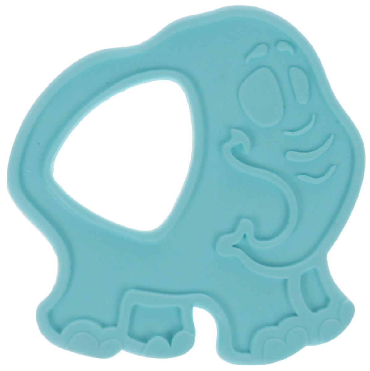 Пластмастер Прорезыватель Слоник цвет голубой