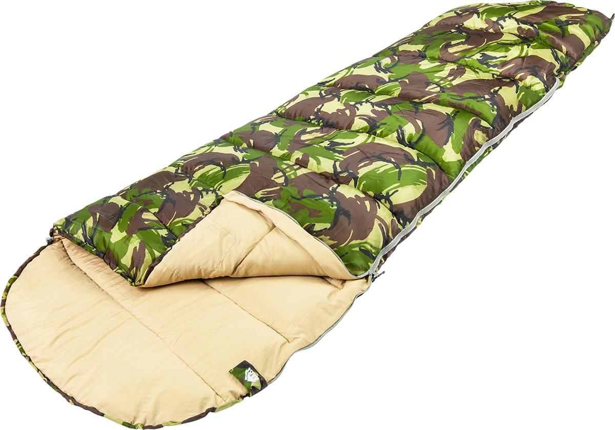 Спальный мешок TREK PLANET Raptor XL, цвет: камуфляж, левосторонняя молния