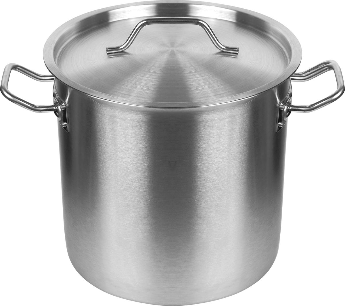 Котел Appetite Общепит. Professional, 30 л. SH12312SH12312 - 34смВместительный котел из прочной нержавеющей стали с тройным дном отлично подойдет для активной эксплуатации на кухне, поэтому частоиспользуется в кафе и столовых - там, где ежедневно приходится много готовить. Однако он подойдет и для частного использования, чтобысварить суп или второе блюдо для большой семьи, приготовить еду для застолья с друзьями.30-литровый котел прекрасно подойдет для индукционных плит, отличается высокой практичностью и удобством.Немаловажными факторами являются простота ухода за котлом и его продолжительный срок службы, который может исчислятьсядесятилетиями.В котле марки Appetite еда будет получаться необыкновенно вкусной и аппетитной.
