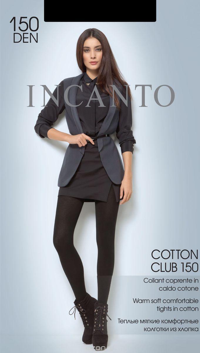 Колготки женские Incanto Cotton Club 150, цвет: Nero (черный). 19743. Размер 3 леггинсы женские incanto velvet slim 200 цвет nero черный 21312 размер 4
