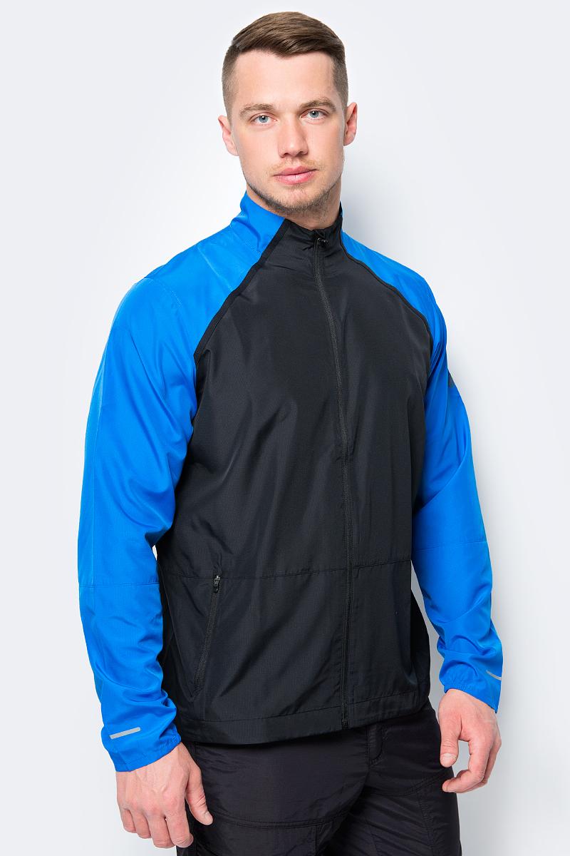 Куртка мужская Asics Jacket, цвет: черный, синий. 154256-0819. Размер XXL (52) футболка asics футболка asics stripe ss top