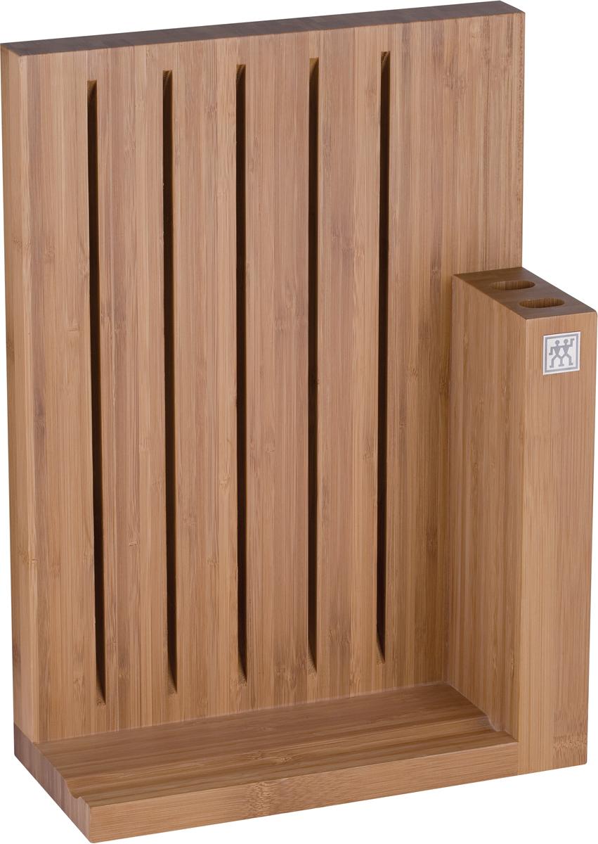 """Магнитная подставка для ножей """"Zwilling"""" имеет 7 отделений, изготовлена из бамбука. Изделие из бамбука обладает высокой стойкостью к механическим повреждениям и влаге. Не размещайте подставку вблизи источников тепла, периодически протирайте влажной тканью. Не оставляйте в воде, не мойте в посудомоечной машине. Использовать только по назначению.  Хранить в недоступном для детей месте."""